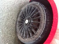 4 x 100 oz racing alloys with tyres - reduced for quick sale