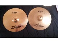 Zildjian ZBT cymbal set+ additional ZBT splash cymbal+ carry sleeve