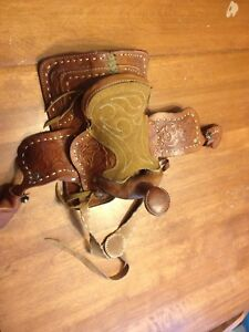 Vintage mini saddle