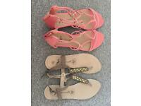 2 pairs of size 8 sandals
