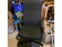 Desk swivel chair, dark grey, originally from ikea