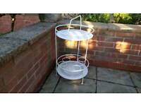 French wrought iron drinks trolley