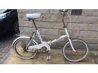 Folding bike retro vintage