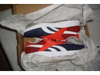 NEW Reebok Mens Trainers Size 9 Royal EC Ride Red White Blue Jogging Gym Running Shoes Ultra Light