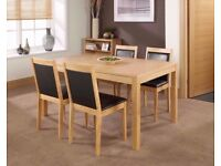 Mountrose Oak Walnut Dining Table NEW BOX
