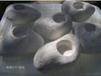 candle t-light stone holders set