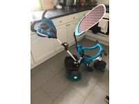 £50 Almost new Blue and Brown Smart Trike (Little Tikes)