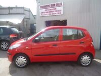 Hyundai I10,5 dr hatchback,FSH,stunning car in bright red,runs and drives as new,great MPG,only 57k