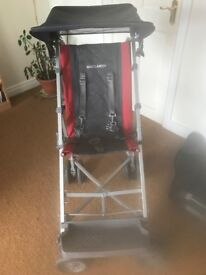Maclaron major elite disability buggy used once and 5lb weighted blanket. Smoke free home.