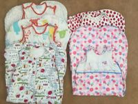 Selection of baby's winter and summer sleeping bags, aged 18-36 months