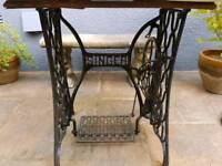 Antique Cast Iron Singer Sewing Machine Table Base