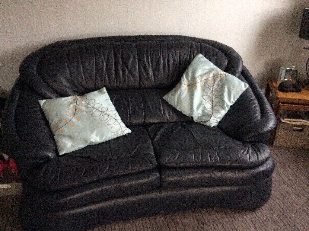 Thomson leather 3 seater plus 2 seater sofa