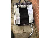 Twin person bicycle trailer