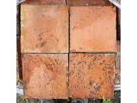 Reclaimed 6in x 6in Red Quarry Tiles