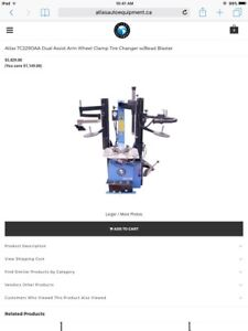 Brand new Atlas tire machine and wheel balancer CSA approved