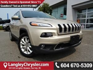 2015 Jeep Cherokee Limited *LOCAL BC SUV*CLEAN*LOADED