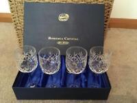 4 Bohemia Crystal Glasses