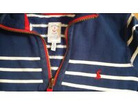 JOULES Blue & White Striped Nautical Jumper Age 8