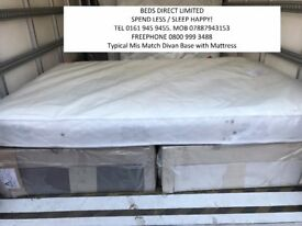 New. King-Size 2 Drawer Divan Beds with Pocket-Sprung or Memory foam sprung Mattresses from £145.00.