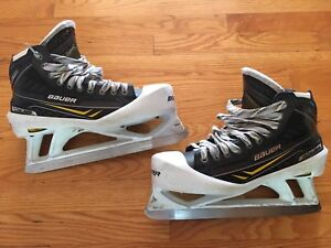 Goalie Skates (size 10) Bauer TotalOne NXG with StepSteel blades