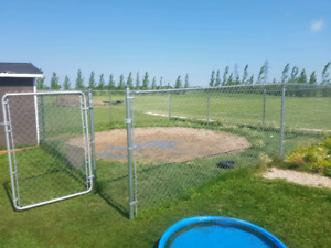 Roughly 100 feet new chain link