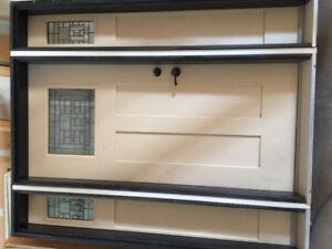 exterior door with 2 side lights