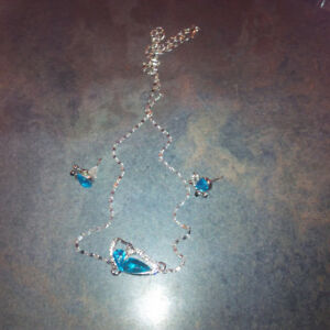 vintage butterfly necklace and earring set # 7