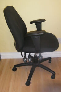 Fully adjustable computer chair.