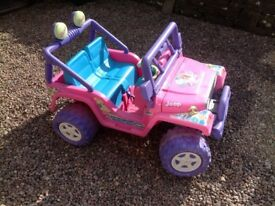 Girls Battery Powered Jeep.