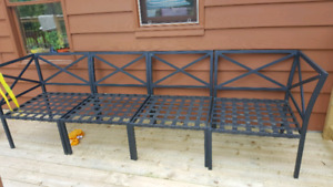 Outdoor couch frame