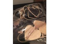 18 heart shaped chalk markers
