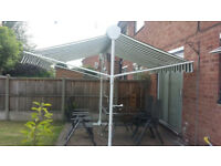 Free standing retractable sun awning 3x3 metres