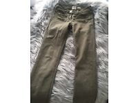 River Island khaki jeans, size 6