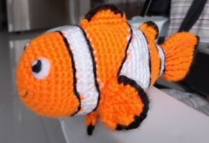 Crochet clown fish toy inspired by Nemo