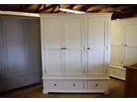 Chantilly White Triple Wardrobe