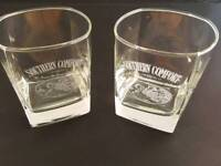 'Southern Comfort' whiskey tumblers (x2)