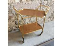 Vintage 50's - 60's tea trolley with detachable shelf