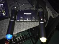 Prosound wireless mics with leads