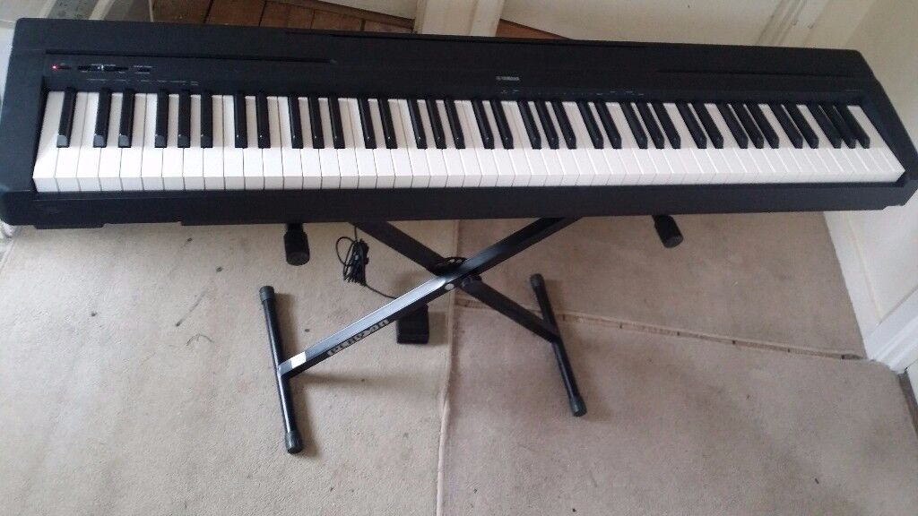 yamaha 88 weighted keyboard. yamaha 88 weighted keys piano keyboard with stand - good working condition g