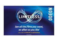 Cinema ticket limitless 1 year ODEON
