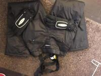 Snowboarding trousers ladies size 10 and gloves