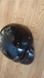 Black Motorcycle Helmet, Size M