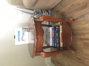 Solid Wood 3 piece coffee table and end tables