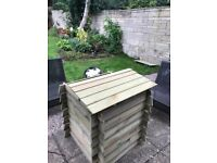 Beehive Style Wooden Composter Recycling Garden Waste Bin