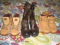 CATERPILLAR BOOTS X THREE PAIRS SIZE 6