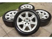"Genuine Jaguar XK8 XKR Flute 18"" Alloy wheels 5x120.6 Coupe Cabrio Alloys XJ8"