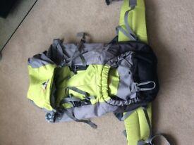 Vango rucksack 50+10 adjustable back support