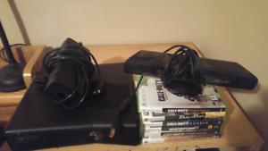 Xbox 360 with kinect and 6 games $200 obo