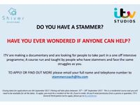 Do you have a stammer and want some help to manage it? New ITV documentary wants to hear from you