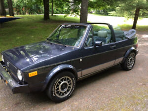 1986 VW Cabriolet convertible. Excellent condition.